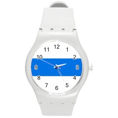 Flag Of Canton Of Zug Round Plastic Sport Watch (m) by abbeyz71