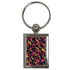 Colorful Dragonflies Design Key Chains (rectangle)  by Valentinaart