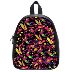 Colorful Dragonflies Design School Bags (small)  by Valentinaart