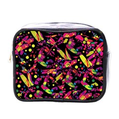 Colorful Dragonflies Design Mini Toiletries Bags by Valentinaart