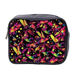 Colorful Dragonflies Design Mini Toiletries Bag 2 Side by Valentinaart