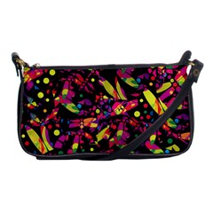 Colorful Dragonflies Design Shoulder Clutch Bags by Valentinaart