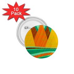 Orange And Green Landscape 1 75  Buttons (10 Pack) by Valentinaart