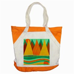 Orange And Green Landscape Accent Tote Bag by Valentinaart