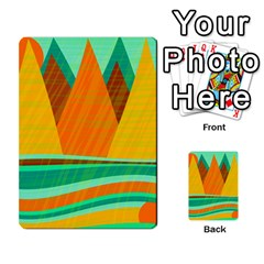 Orange And Green Landscape Multi Purpose Cards (rectangle)  by Valentinaart
