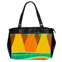 Orange And Green Landscape Office Handbags (2 Sides)  by Valentinaart