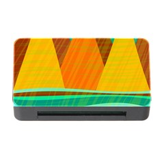 Orange And Green Landscape Memory Card Reader With Cf by Valentinaart