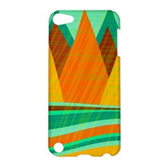 Orange And Green Landscape Apple Ipod Touch 5 Hardshell Case by Valentinaart