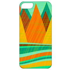 Orange And Green Landscape Apple Iphone 5 Classic Hardshell Case by Valentinaart