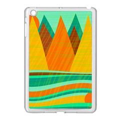 Orange And Green Landscape Apple Ipad Mini Case (white) by Valentinaart