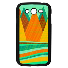 Orange And Green Landscape Samsung Galaxy Grand Duos I9082 Case (black) by Valentinaart