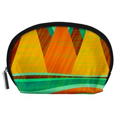 Orange And Green Landscape Accessory Pouches (large)