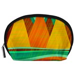 Orange and green landscape Accessory Pouches (Large)  Front