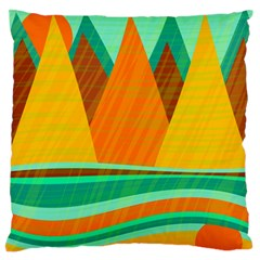 Orange And Green Landscape Standard Flano Cushion Case (one Side) by Valentinaart