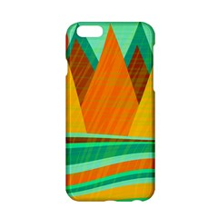 Orange And Green Landscape Apple Iphone 6/6s Hardshell Case by Valentinaart