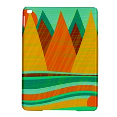 Orange And Green Landscape Ipad Air 2 Hardshell Cases by Valentinaart