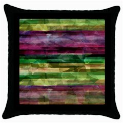 Colorful Marble Throw Pillow Case (black) by Valentinaart