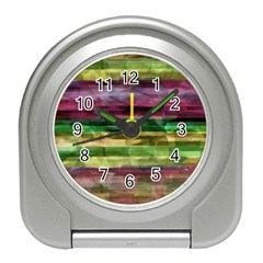 Colorful Marble Travel Alarm Clocks by Valentinaart