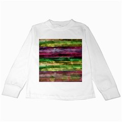 Colorful Marble Kids Long Sleeve T Shirts by Valentinaart