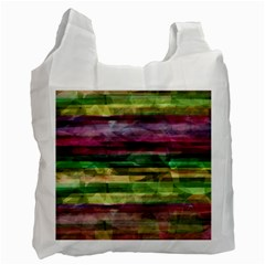 Colorful Marble Recycle Bag (two Side)  by Valentinaart