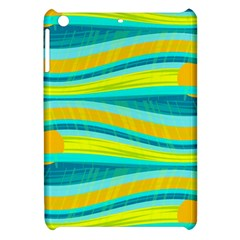 Yellow And Blue Decorative Design Apple Ipad Mini Hardshell Case by Valentinaart