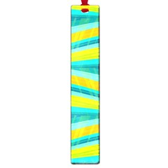 Yellow And Blue Decorative Design Large Book Marks by Valentinaart