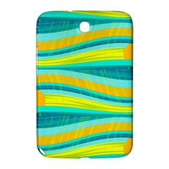 Yellow And Blue Decorative Design Samsung Galaxy Note 8 0 N5100 Hardshell Case  by Valentinaart
