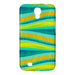 Yellow And Blue Decorative Design Samsung Galaxy Mega 6 3  I9200 Hardshell Case by Valentinaart