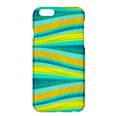 Yellow And Blue Decorative Design Apple Iphone 6 Plus/6s Plus Hardshell Case by Valentinaart
