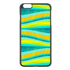 Yellow And Blue Decorative Design Apple Iphone 6 Plus/6s Plus Black Enamel Case by Valentinaart
