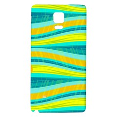 Yellow And Blue Decorative Design Galaxy Note 4 Back Case by Valentinaart