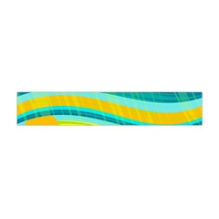 Yellow And Blue Decorative Design Flano Scarf (mini) by Valentinaart
