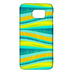 Yellow And Blue Decorative Design Galaxy S6 by Valentinaart