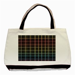 Neon Plaid Design Basic Tote Bag (two Sides) by Valentinaart