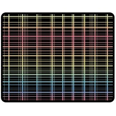 Neon Plaid Design Fleece Blanket (medium)  by Valentinaart