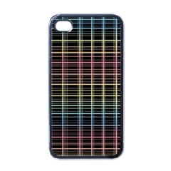 Neon Plaid Design Apple Iphone 4 Case (black)