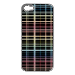 Neon Plaid Design Apple Iphone 5 Case (silver) by Valentinaart