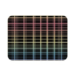 Neon Plaid Design Double Sided Flano Blanket (mini)  by Valentinaart