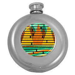Decorative Autumn Landscape Round Hip Flask (5 Oz) by Valentinaart