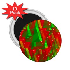 Xmas Trees Decorative Design 2 25  Magnets (10 Pack)  by Valentinaart