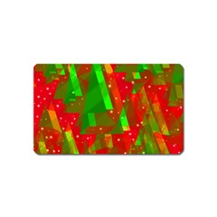 Xmas Trees Decorative Design Magnet (name Card) by Valentinaart