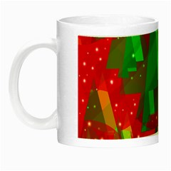 Xmas Trees Decorative Design Night Luminous Mugs by Valentinaart