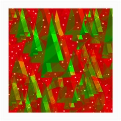 Xmas Trees Decorative Design Medium Glasses Cloth by Valentinaart