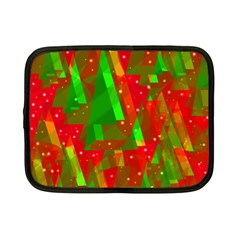 Xmas Trees Decorative Design Netbook Case (small)  by Valentinaart