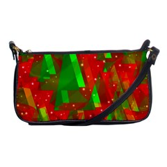Xmas Trees Decorative Design Shoulder Clutch Bags by Valentinaart