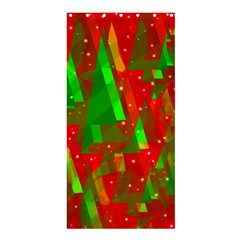Xmas Trees Decorative Design Shower Curtain 36  X 72  (stall)  by Valentinaart
