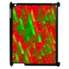Xmas Trees Decorative Design Apple Ipad 2 Case (black) by Valentinaart