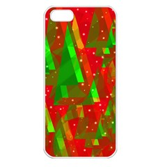 Xmas Trees Decorative Design Apple Iphone 5 Seamless Case (white) by Valentinaart