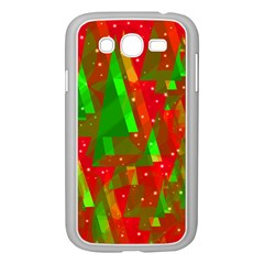 Xmas Trees Decorative Design Samsung Galaxy Grand Duos I9082 Case (white) by Valentinaart