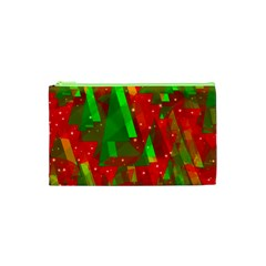 Xmas Trees Decorative Design Cosmetic Bag (xs) by Valentinaart